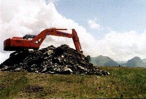 Moser baut einen Berg