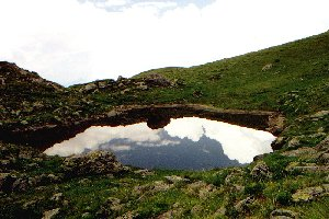Bergsee unterhalb des Standkopfes